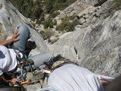 Rock Climbing Photo: 2nd Pitch on the Trough