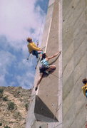 Rock Climbing Photo: Many time National Champion, Jim Karn at Snowbird.