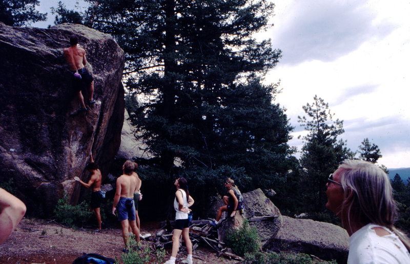 Bouldering Comps in old fashion kept going, here at Sheep Nose and The Horsetooth Hang.