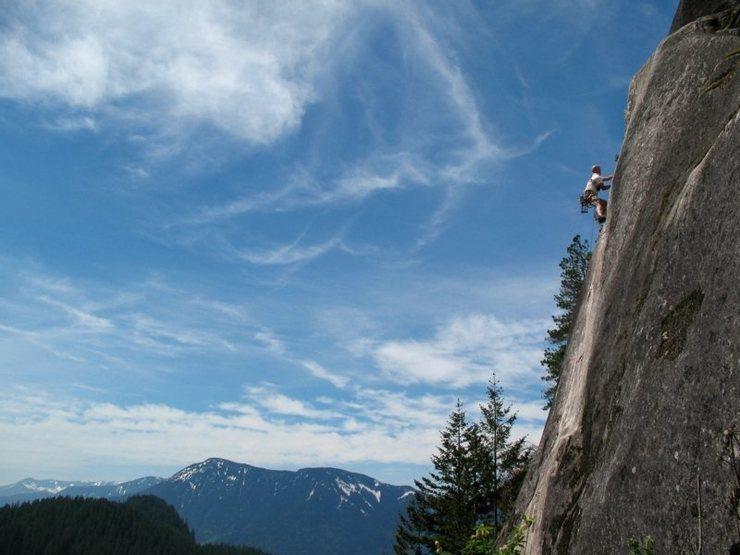 Rock Climbing Photo: Jesse M leading Land Down Under
