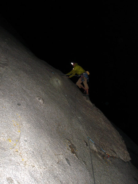 Rock Climbing Photo: Night time is best when there is a full moon. Unfo...