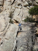 Rock Climbing Photo: Pulling the crux, a few feet above a small cam...a...