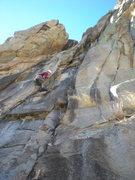 Rock Climbing Photo: Dave Kahler leading.