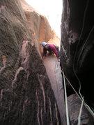Rock Climbing Photo: Following pitch 3