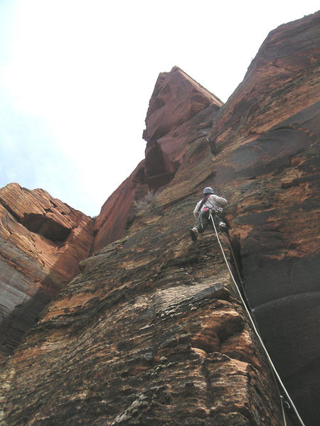 Pitch 9 on the beautiful upper crack.