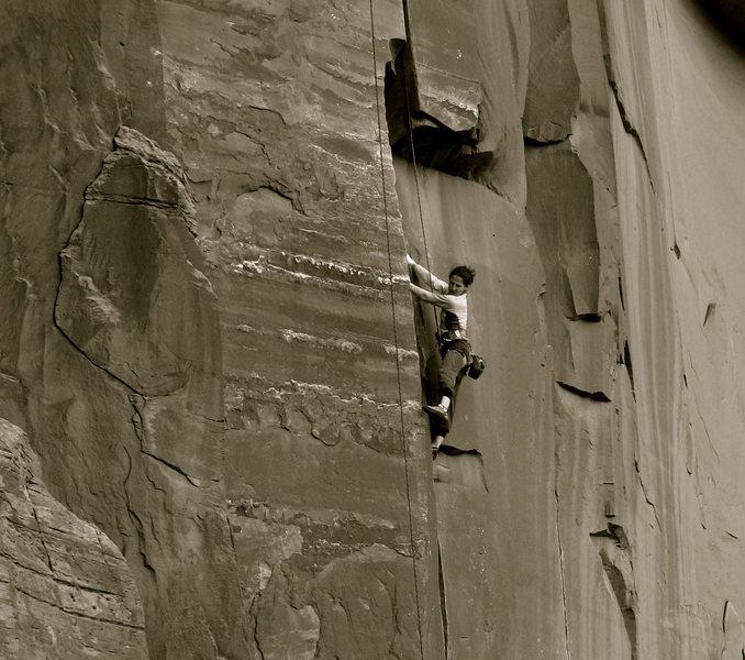 Rock Climbing Photo: Joey on Mad Dog