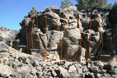 Rock Climbing Photo: Geophysics Wall Topo 1