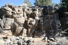 Rock Climbing Photo: Geophysics Wall Topo 2