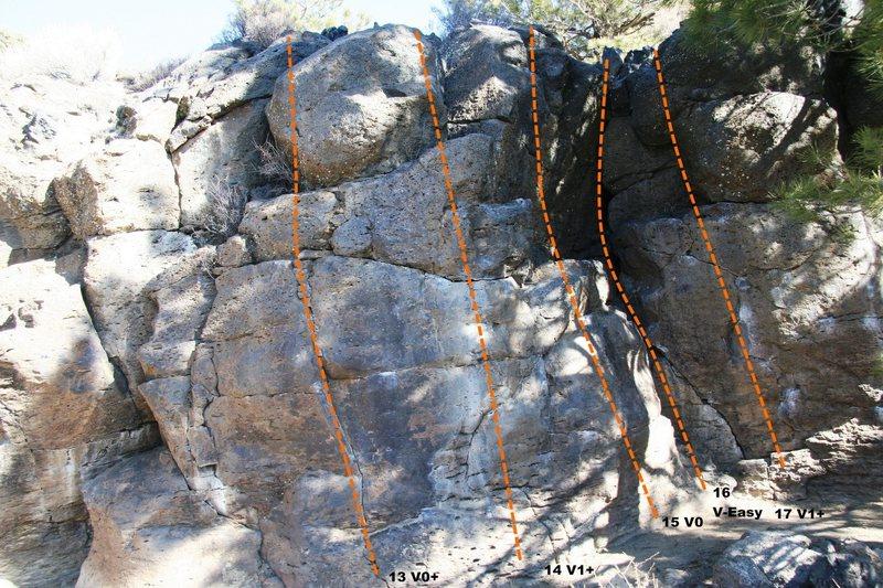 Rock Climbing Photo: Geophysics Wall Topo 3