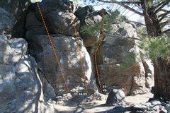 Rock Climbing Photo: Geophysics Wall Topo 4