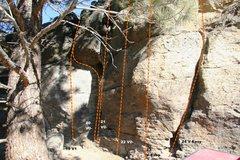 Rock Climbing Photo: Geophysics Wall Topo 6