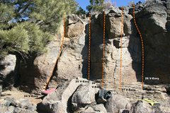 Rock Climbing Photo: Geophysics Wall Topo 7