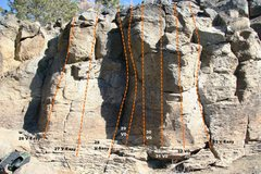 Rock Climbing Photo: Geophysics Wall Topo 9