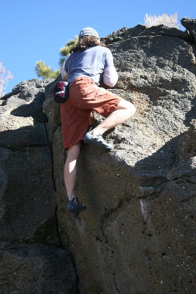 Moving up and over the sloping edge on Problem 30 V0