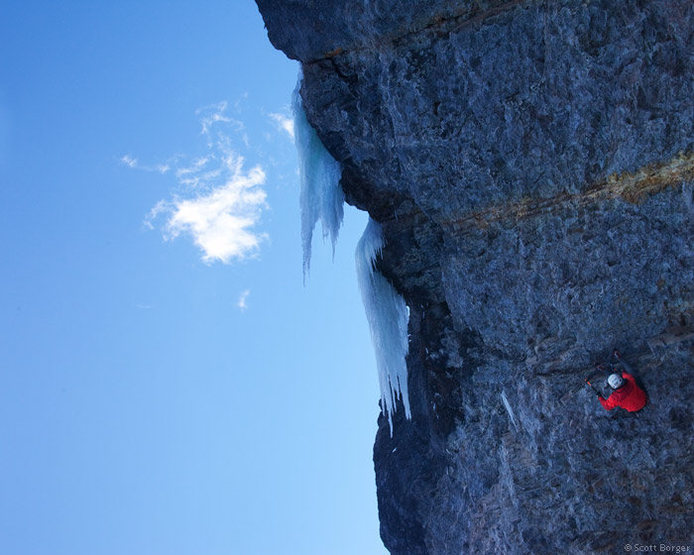 Rock Climbing Photo: A gnarly perspective of 'Troglodyte' (M9) in the P...