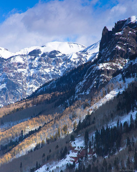 A gorgeous San Juan view from Camp Bird Road near Ouray, CO. Photo courtesy of Scott Borger.