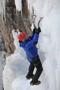 Rock Climbing Photo: Mark gets some spray as he sticks his tools in som...