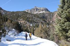 Rock Climbing Photo: Mark and I walk back to town after a successful da...