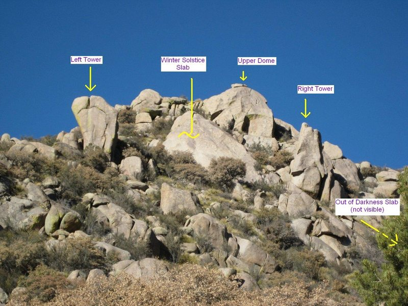 Here is a copy of Anthony Stout's photo of the area, marked up with some of the attractions.