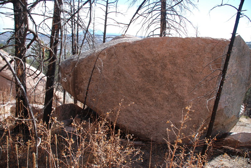This problem is the edges on the left hand side of the boulder.  Also the downclimb.