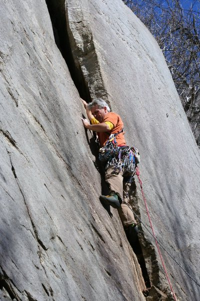 Rock Climbing Photo: FA pitch 1