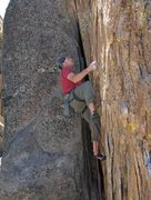 Rock Climbing Photo: Johnson in the Pit, Holcolmb Valley