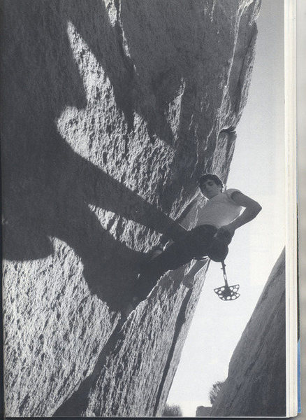 Mike Geller with the no-hands rest on Mother Superior.  Photo by R. Leavitt