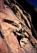 Rock Climbing Photo: Barefootin' on The Wisdom, 1st pitch.