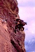 Rock Climbing Photo: BH rounding the corner on False Prophet.