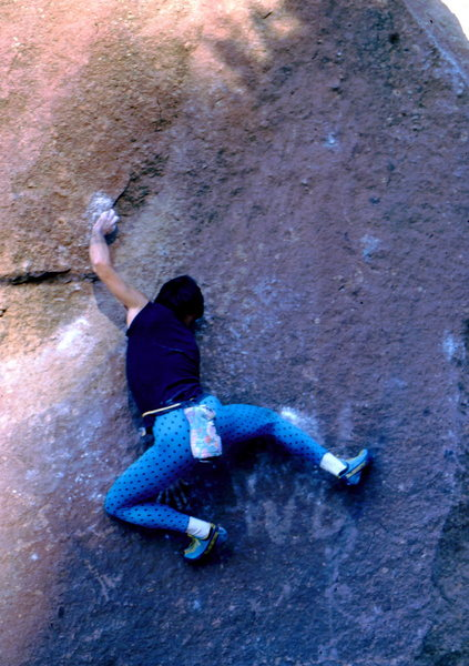 Rock Climbing Photo: BH on Never Say Never, Milton Boulder.