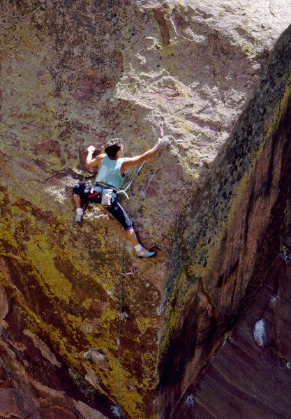 Rock Climbing Photo: Bob Horan on Beware the Future, Skunk Canyon.