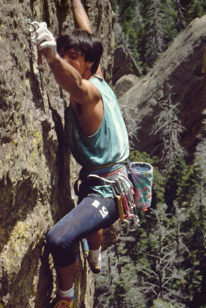 Rock Climbing Photo: BH on west face of the Fourth Flatiron.