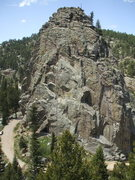 Rock Climbing Photo: The Boulder Canyon gem, Castle Rock, photo: Bob Ho...