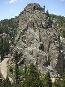 Rock Climbing Photo: The Boulder Canyon gem, Castle Rock, photo: Bob Ho...
