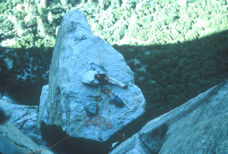 Looking down on El Cap Spire, 1978