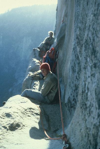 Rock Climbing Photo: Classic bivy on Long ledge...Jonathan & Rick