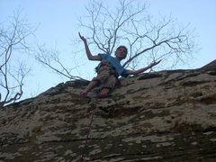 Rock Climbing Photo: no hands ledge