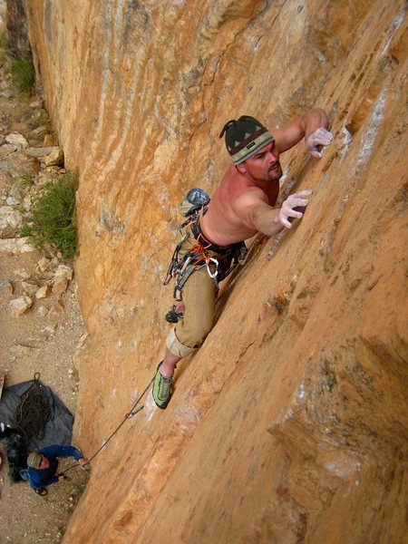 Rock Climbing Photo: Crimpin' on Ecstatic Electricity