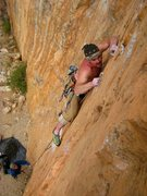 Rock Climbing Photo: More crimps on Ecstatic Electricity
