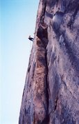 Rock Climbing Photo: On the rappels.  The obvious corner crack is the s...