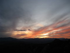 Rock Climbing Photo: Sunset atop Sunshine Wall, Feb 09.  Gets cold quic...