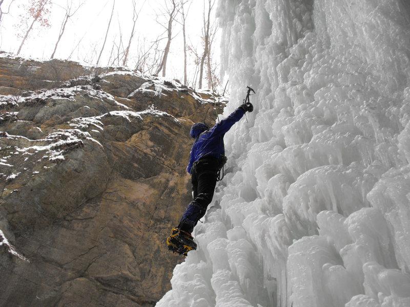 Rock Climbing Photo: More ice