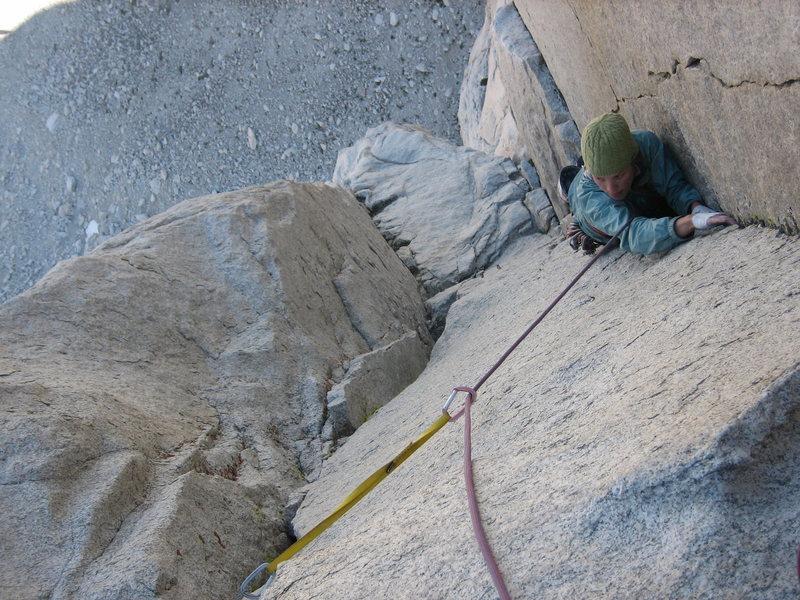 Rock Climbing Photo: Classic corners on the 3rd pitch.