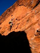 Rock Climbing Photo: Climbing out of the shade on Psychobilly at the Bl...