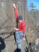 Rock Climbing Photo: First few moves of the bulge