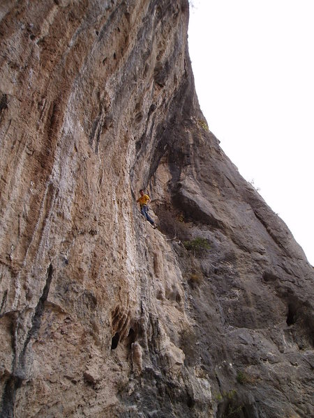 Shawn taking a good rest before starting the crux.