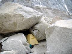 Rock Climbing Photo: Bivy site at Niponino- Jan 2009.
