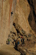 Rock Climbing Photo: Unknown climber at smith rock... what route is thi...