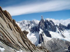 Rock Climbing Photo: Cerro Torre, Torre Egger, Punta Huron, and Cerro S...
