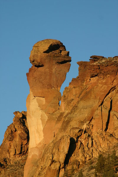Rock Climbing Photo: oh... thats why its called the monkey face...
